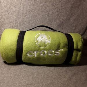 Crocs vintage polarfleece blanket/wrap LIME